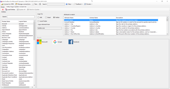 Entity Image Updater Screenshot