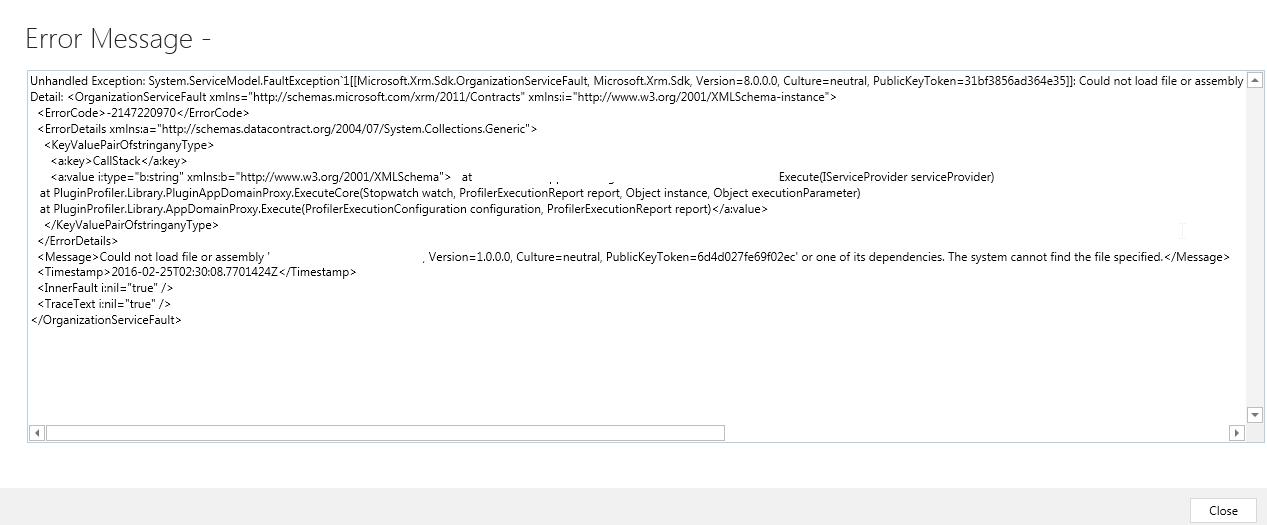 PluginRegTool Error