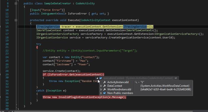 Activity Log Visual Studio