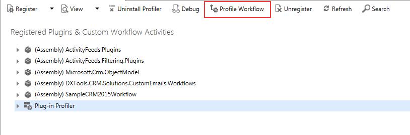 Workflow Profile Button