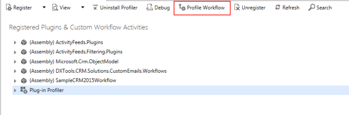 Workflow Profile Button