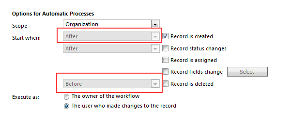 how to create a workflow in crm 2016