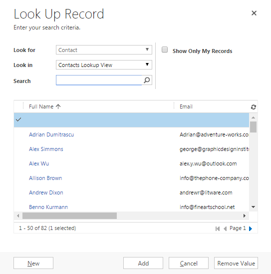 Restricting the customer lookup | Dreaming in CRM, PowerApps