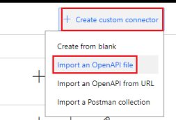 Import an OpenAPI file
