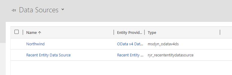 Data Source List