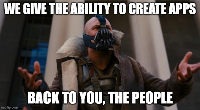 Screenshot of Bane's speech