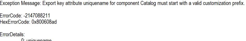 Root Catalog no prefix exception