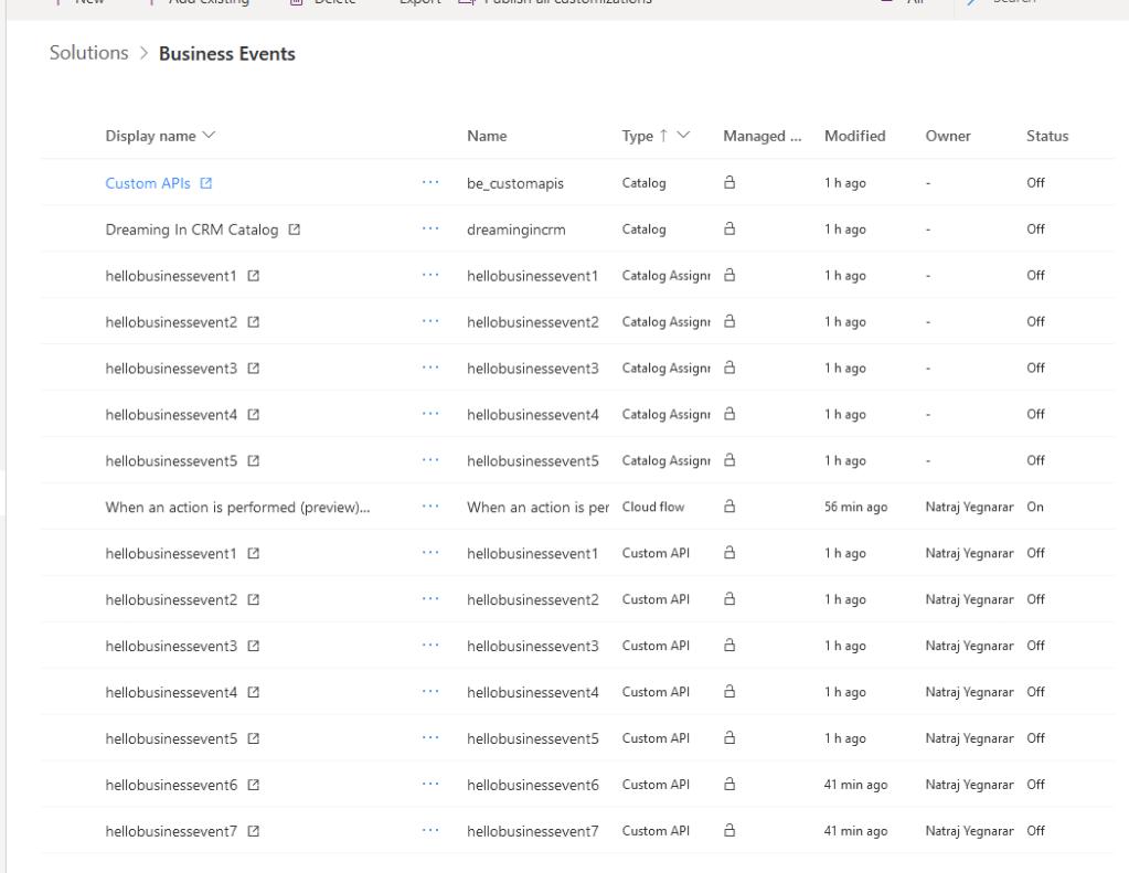 Solution with Custom API and Catalog records
