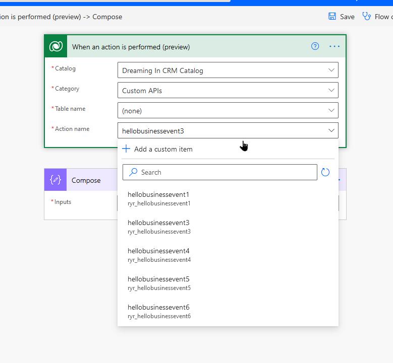 Unbound Custom API Trigger