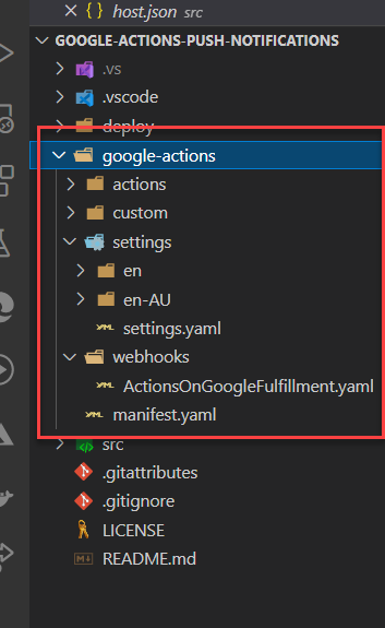 Google Actions source code